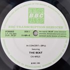 THE BEAT (THE ENGLISH BEAT) In Concert-289 (aka BBC College Concert #18) album cover
