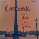 THE MODERN JAZZ QUARTET Concorde album cover