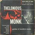 THELONIOUS MONK Genius of Modern Music album cover