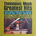 THELONIOUS MONK Greatest Hits album cover