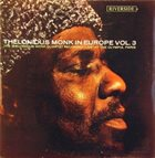 THELONIOUS MONK Thelonious Monk In Europe Vol.3 album cover