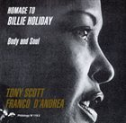 TONY SCOTT Homage to Billie Holiday: Body & Soul album cover