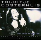 TRIJNTJE OOSTERHUIS For Once In My Life - Songs Of Stevie Wonder - Live album cover