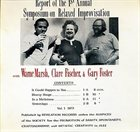 WARNE MARSH Report Of The 1st Annual Symposium On Relaxed Improvisation (with Clare Fischer / Gary Foster) album cover