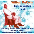 WILBUR DE PARIS Live in Canada 1956 album cover