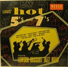 YANK LAWSON Lawson-Haggart Jazz Band ‎: Louis' Hot 5's And 7's album cover