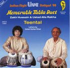 ZAKIR HUSSAIN Zakir Hussain & Ustad Alla Rakha : Memorable Tabla Duet - Teental album cover