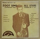ZOOT SIMS Zoot Sims All Stars : Contemporary Music album cover