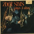 ZOOT SIMS Zoot Sims Plays 4 Altos album cover
