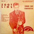 ZOOT SIMS Zoot Sims Tenor Sax Favorites album cover