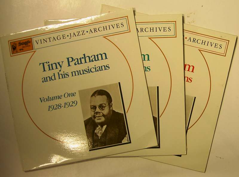 TINY PARHAM - Tiny Parham & His Musicians    Volumes One,Two & Three (1928-1930) cover