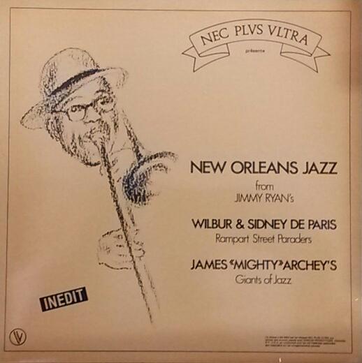 WILBUR DE PARIS - New Orleans Jazz From Jimmy Ryan's cover