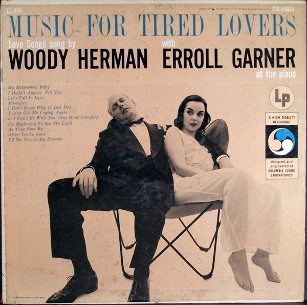 WOODY HERMAN - Woody Herman With Erroll Garner : Music For Tired Lovers cover