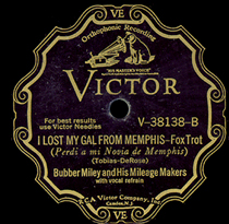 BUBBER MILEY - I Lost My Gal From Memphis cover