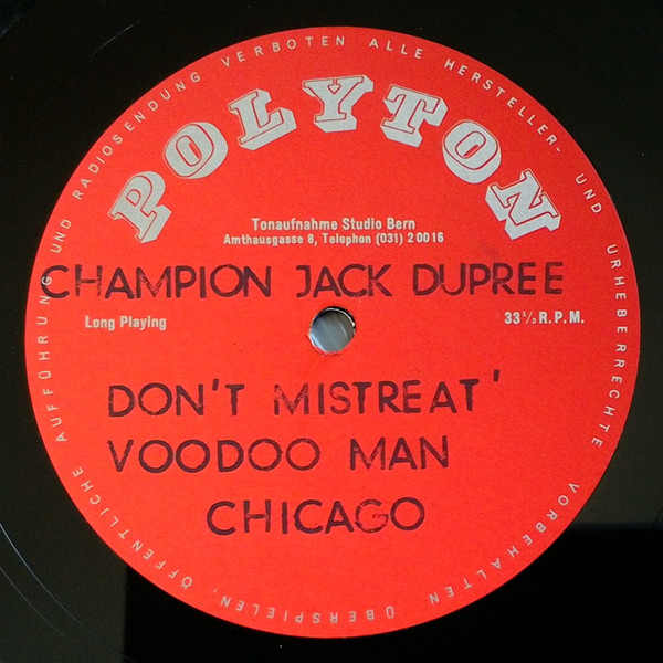 CHAMPION JACK DUPREE - At The Wolverines Jazz Club Berne cover