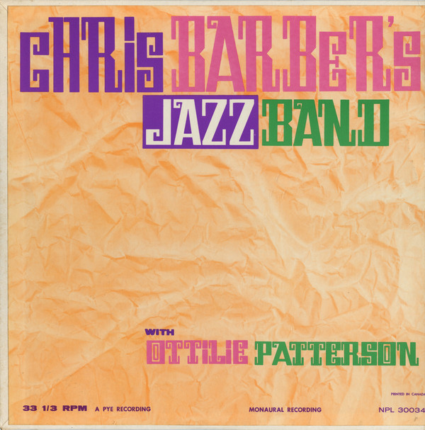 CHRIS BARBER - Chris Barber's Jazzband With Ottilie Patterson cover