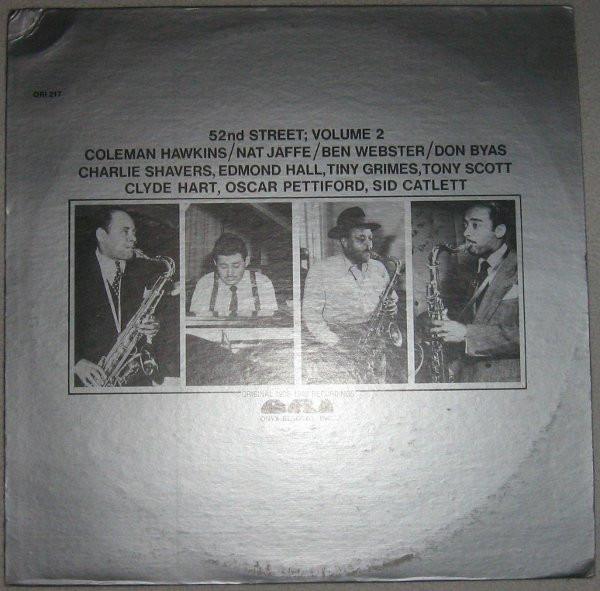 COLEMAN HAWKINS - Coleman Hawkins / Nat Jaffe / Ben Webster / Don Byas : 52nd Street; Volume 2 cover