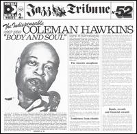 COLEMAN HAWKINS - The Indispensable 'Body and Soul' 1927 / 1956 cover