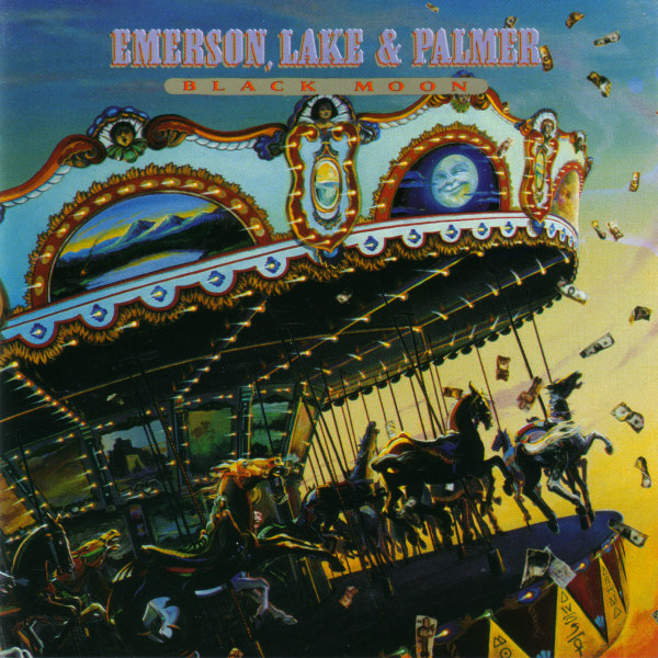 EMERSON LAKE AND PALMER - Black Moon cover