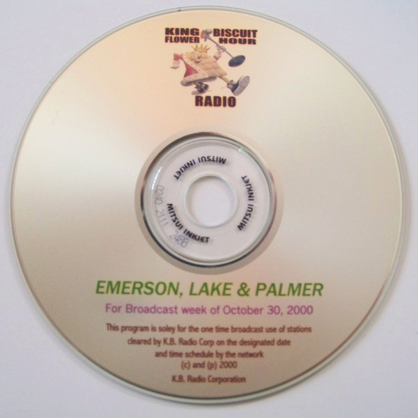 EMERSON LAKE AND PALMER - King Biscuit Flower Hour (week of October 30, 2000) cover
