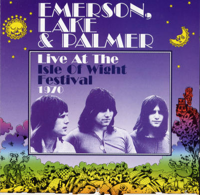 EMERSON LAKE AND PALMER - Live At The Isle Of Wight Festival 1970 cover