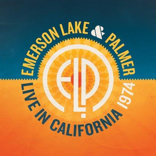 EMERSON LAKE AND PALMER - Live In California 1974 cover