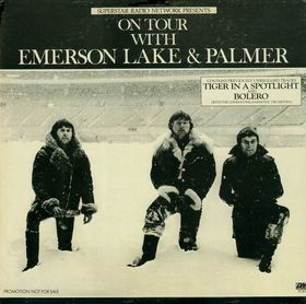 EMERSON LAKE AND PALMER - On Tour cover