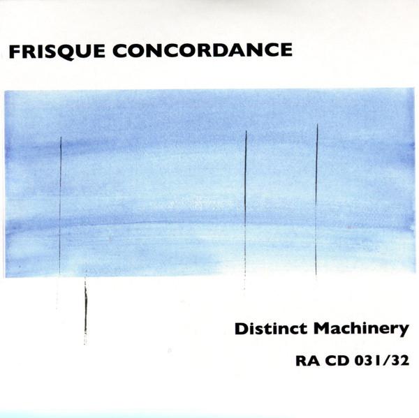 FRISQUE CONCORDANCE - Distinct Machinery cover