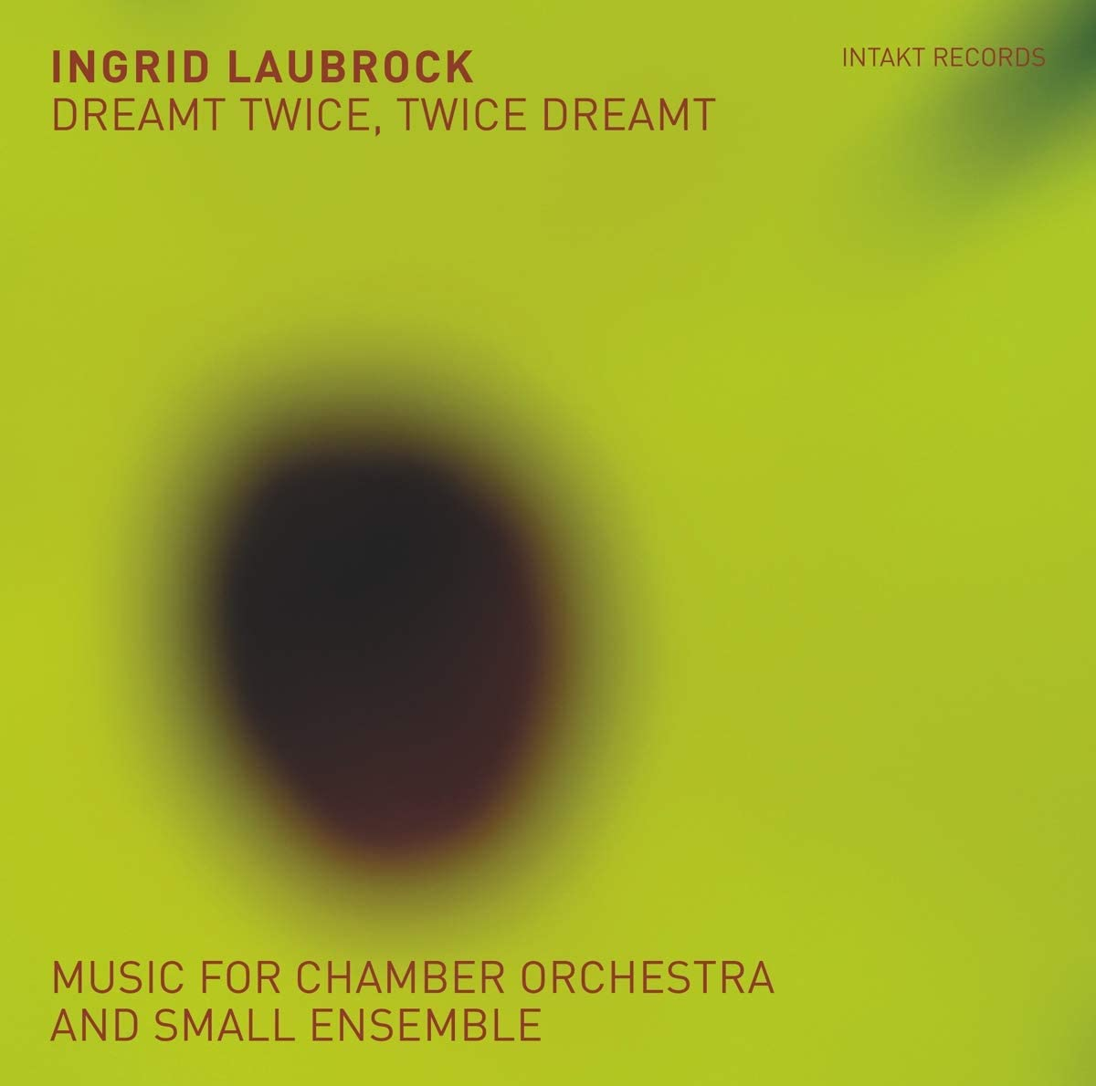 INGRID LAUBROCK - Dreamt Twice, Twice Dreamt cover