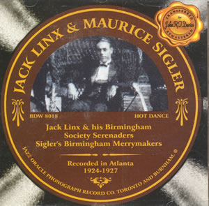 JACK LINX - Jack Linx & Maurice Sigler: 1924-1927 cover