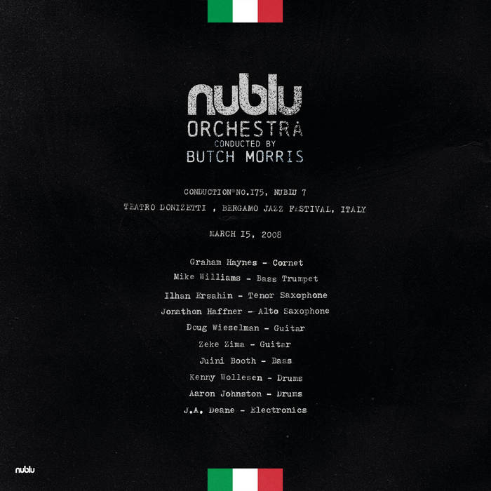 NUBLU ORCHESTRA CONDUCTED BY BUTCH MORRIS - Live in Bergamo cover