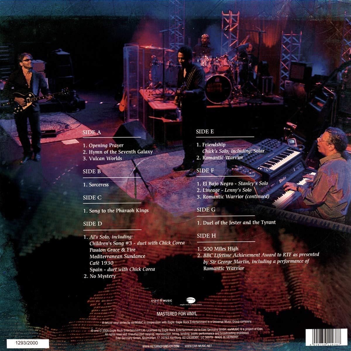 RETURN TO FOREVER - Returns - Live at Montreux 2008 cover