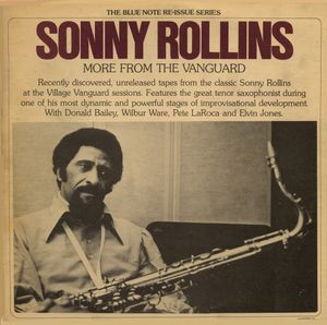 SONNY ROLLINS - More From the Vanguard cover