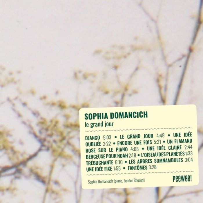 SOPHIA DOMANCICH - Le Grand Jour cover