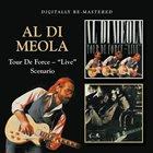 "AL DI MEOLA Tour De Force – ""Live""/Scenario album cover"
