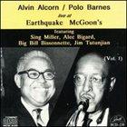ALVIN ALCORN Live at Earthquake McGoon's, Vol.1 album cover