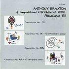 ANTHONY BRAXTON 4 Compositions (Ulrichsberg) 2005: Phonomanie VIII album cover