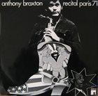 ANTHONY BRAXTON Recital Paris 71 album cover
