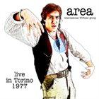 AREA Live in Torino 1977 album cover