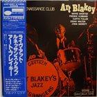 ART BLAKEY Live At The Renaissance Club album cover