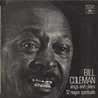 BILL COLEMAN Sings And Plays 12 Negro Spirituals album cover