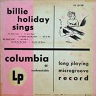 BILLIE HOLIDAY Billie Holiday Sings album cover