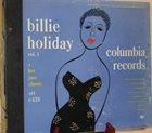BILLIE HOLIDAY Billie Holiday Vol. 1 album cover