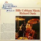 BILLY COBHAM Billy Cobham Meets Richard Davis album cover