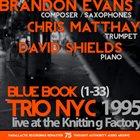 BRANDON EVANS Blue Book (Trio NYC 1995) album cover