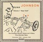 "BUNK JOHNSON Volume 1 ""New York"" album cover"
