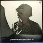 CECIL TAYLOR Great Paris Concert 2 album cover