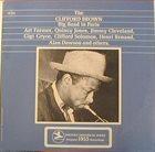 CLIFFORD BROWN Clifford Brown Big Band in Paris album cover