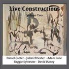 DANIEL CARTER Daniel Carter, Julian Priester, Adam Lane, Reggie Sylvester, David Haney : Live Constructions, Vol. 2 album cover