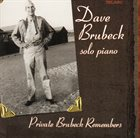 DAVE BRUBECK Private Brubeck Remembers album cover